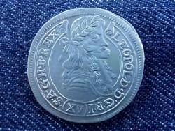 Extra szép I. Lipót ezüst 15 krajcár 1678 KB / id 2702/