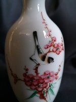 Régi, kézzel festett, vékonyfalú, kínai porcelán váza