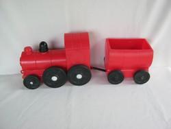 Retro trafikáru műanyag játék mozdony vonat