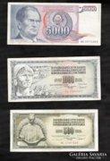 Jugoszlávia Dinár LOT 3.DB