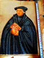 Antik gyöngygoblein kép Luther Mártom korabeli ábrázolása