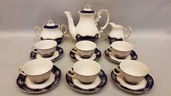 Zsolnay 6.személyes pompadour II. kávés vagy mokkás készlet
