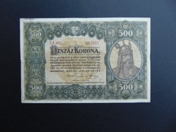 500 korona 1920 5 A 003 Szép bankjegy