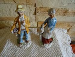 Porcelán  idős férfi  és nő