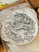 Szász Endre ritkaság ! Porcelán tányér.