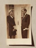 Régi fotó 1940 körül női férfi páros fénykép