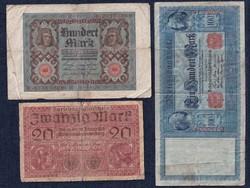 3 db német márka / id 5929/