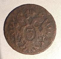 3 Kreutzer 1800  - Osztrák  Habsburg krajcár Kreuzer  /ERM019/