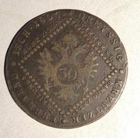 30 Kreutzer 1807 B - Osztrák  Habsburg krajcár Kreuzer Nagybánya /ERM020/