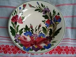Városlőd, Pannónia felirattal kézzel festett virágokkal kerámia fali tányér!