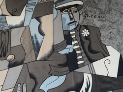 Picasso festményes kendő, 85 x 85 cm!
