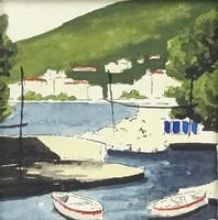 0Z122 Ismeretlen festő : Kikötő