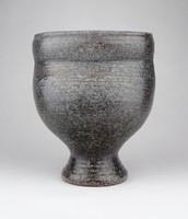 0Z245 Retro Adamis Gusztáv iparművészeti szürke kerámia váza