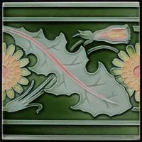 Antik szecessziós Villeroy & Boch csempe a századfordulóról 15,2x15,2 cm