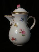 Antik kardos Meisseni kávés kiöntő. Igazi gyűjtői ritkaság a 18.századból