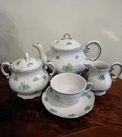 Zsolnay teás hat csészével