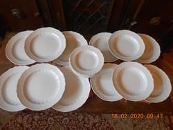 Hollóházi Pannónia Bianco tányér készlet 18 részes