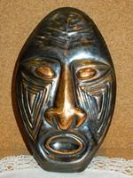 Iparművész bronz fali maszk.