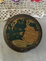 Vintage fém pléh doboz - Pastilles Valda Paris felírat - Párizs