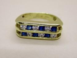 Szépséges 14kt-os aranygyűrű  církóniákkal