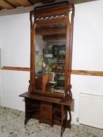 Hatalmas fésülködő pipere tükrös asztal jó szerkezeti állapotban (290)
