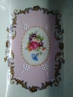 Különleges Limoges porcelán hamutartó, két oldalán falevél kialakítással!