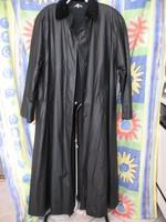 Vízlepergetős , szövet béléses bővülő grafit színű női hosszú kabát