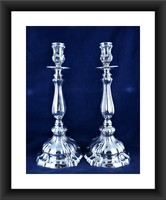 Candlestick (2) - .800 silver - Italy - 1944-1968