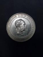 Hatalmas eredeti ezüst Ferenc József kitüntetés.