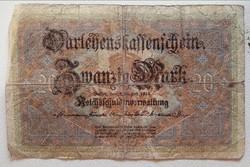 Gyengébb Inflációs 20 márka 1914.bankjegy