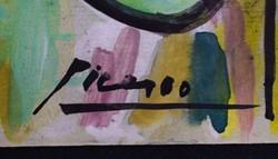 Pablo Picasso eredeti akvarellje