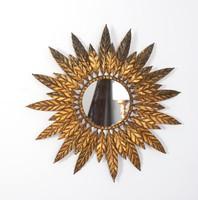 Napraforgó alakú fémkeretes tükör
