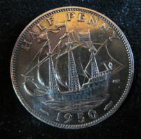 Egyesült Királyság ½ Penny, 1950 VF