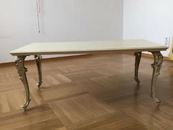 Chippendél barok rokoko törtfehér  dohányzóasztal 95x52x41cm
