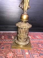 Antik nagyméretű bronz gyertyatartó, 72 cm