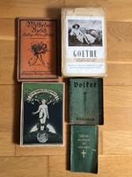 5 db antik német nyelvű könyv (1910-1955) gót írású is !!