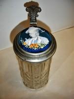 *Antik üveg söröskorsó*