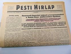 Roosevelt üzenetet intézett a Robin Moor elsüllyesztése ügyében  -  Pesti Hírlap 1941 jun, 21.