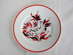 Hollóházi porcelán kakasos dísztányér