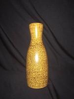 Retro Kerezsi Gyöngyi sárga kerámia váza