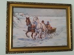 """""""Benyovszky"""" szignóval ellátott festmény"""
