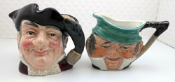 Miniatűr angol figurás kerámia karakter bögrék Toby mug v. jug