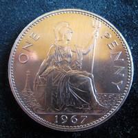 Egyesült Királyság, 1967 One Penny XF