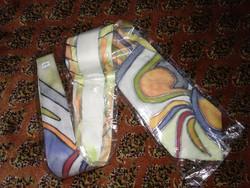 Pasztell színű selyem nyakkendő, hand painted silk tie