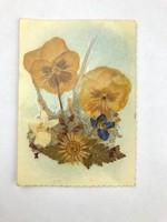 Kézműves képeslap préselt virágok  /KL014/