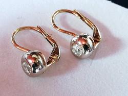 Gyémánt köves button arany fülbevaló (14k)