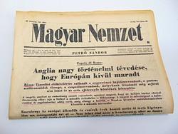 Anglia nagy történelmi tévedése, hogy Európán kívül maradt     - Magyar Nemzet 1943 június 23.