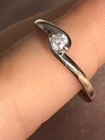 18k 750 arany gyémánt gyűrű 3mm antik jelzett gyűrű 17mm átmérő