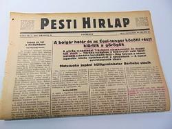 A bolgár határ Égei tenger közötti részt kiürítik a görögök  - Pesti Hírlap 1941 március 9.