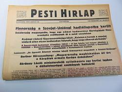 Finnország a Szovjet - Unióval hadiállapotba került - Pesti Hírlap 1941 jun, 26.